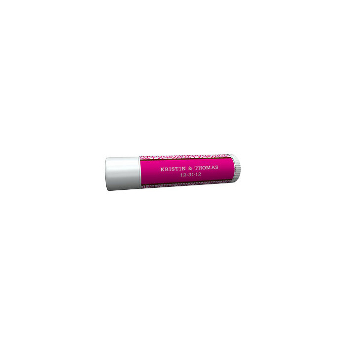 Personalized Lip Balm Tube Favors - Modern (Pink)