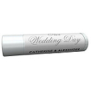 Personalized Lip Balm Tube Favors - Our Wedding Day (Silver)