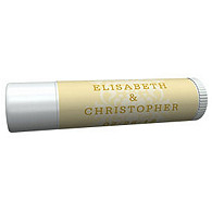 Personalized Lip Balm Tube Favors - Regal (Yellow)