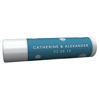 Personalized Lip Balm Tube Favors - Snowflake