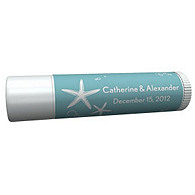 Personalized Lip Balm Tube Favors - Starfish (Blue)