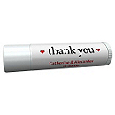 Personalized Lip Balm Tube Favors - Thank You