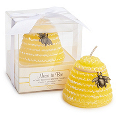 """Meant to Bee"" Honey-Scented Beehive Candle Favor"