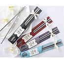 """East Meets West"" Stainless Steel Chopsticks Favor"