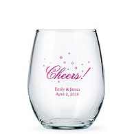 Personalized Stemless Wine Glass - Large