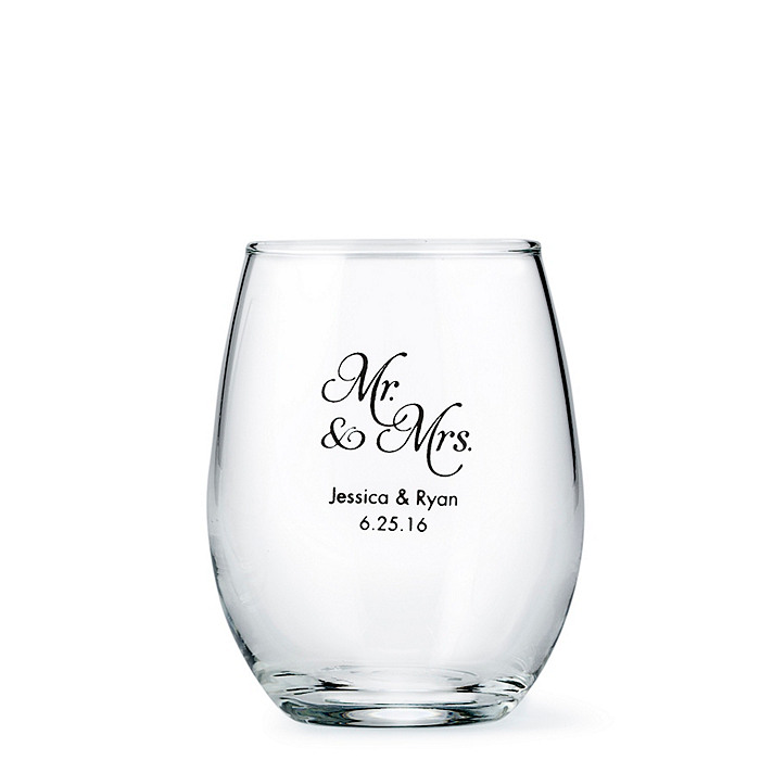 Personalized Stemless Wine Glass Small