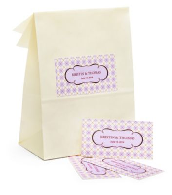 Personalized Rectangular Favor Labels - Small