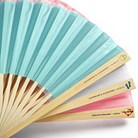 Silk Fan with Personalized Label