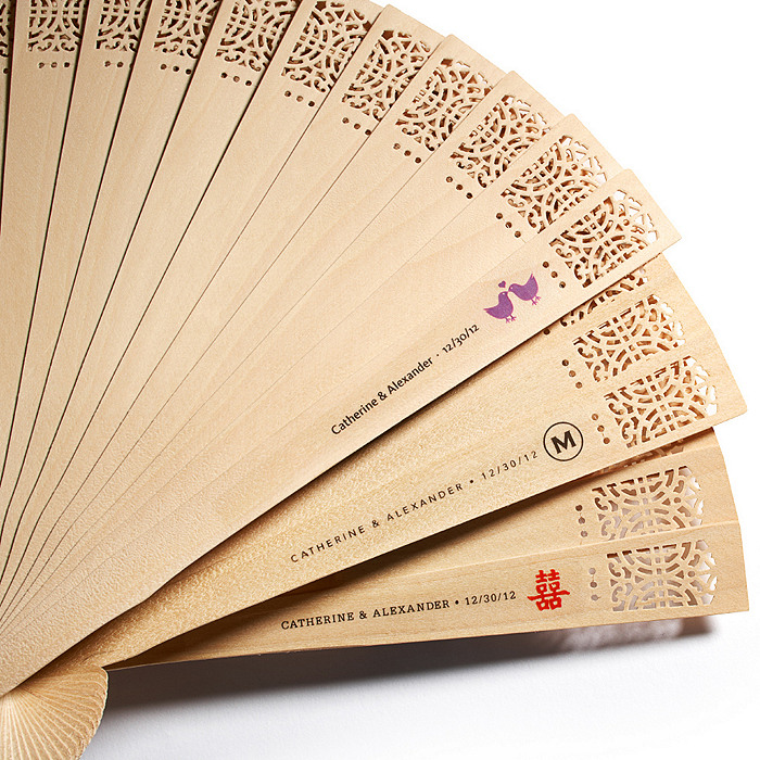Sandalwood Fan with Personalized Label