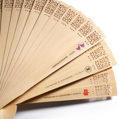 Sandalwood Fan with Personalized Label