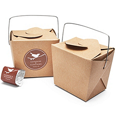 Kraft Paper Small Take-Out Favor Boxes
