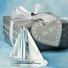 Crystal Sailboat Favor