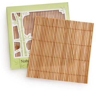 Bamboo Coaster Set Favors