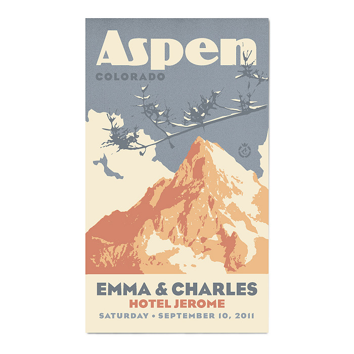 Personalized Save the Date Magnets - Mountain
