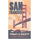 Personalized Save the Date Magnets - San Francisco