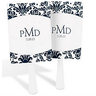 Personalized Damask Favor Fans