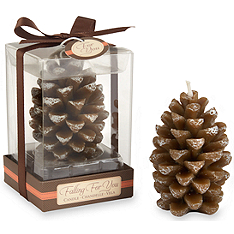 falling for you scented pine cone candle favors