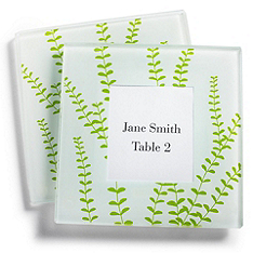 Spring Vines Photo Glass Coaster Favors