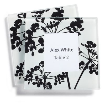 Wildflower Photo Glass Coaster Favors