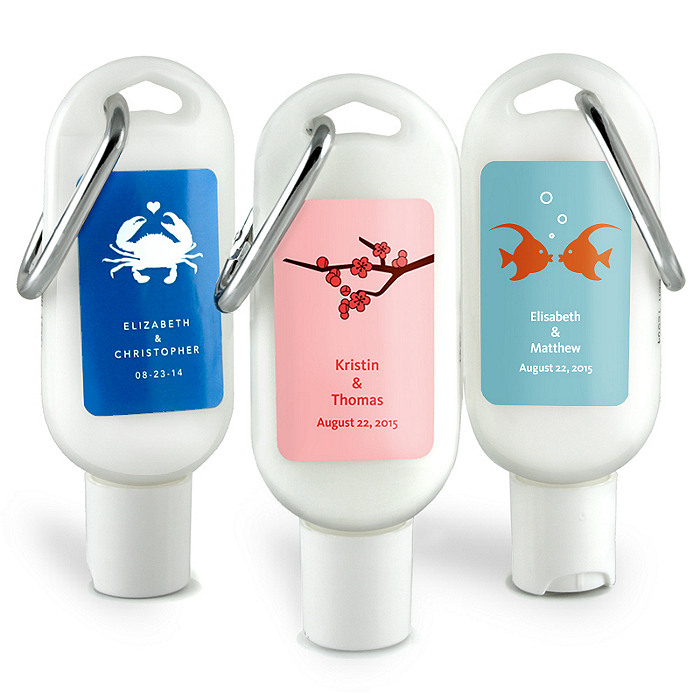 Personalized Sunscreen Favor