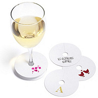 Personalized Wine Glass Coasters