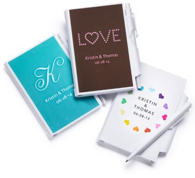 Personalized Notebook and Pen Favors