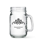 Personalized Mason Jar Drinking Glass