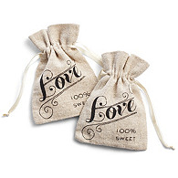 Linen Love Favor Bag
