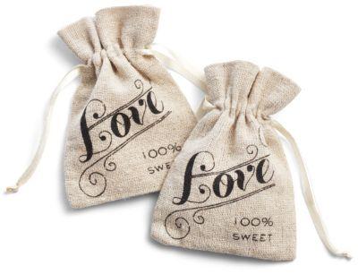 Linen Love Favor Bag