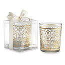 Gilded Glass Tealight Holder