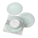 Lace Frosted Glass Coaster Favor