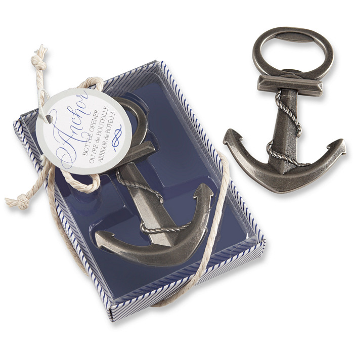 Anchor bottle opener favor for Bottle opener wedding favor