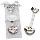 Two Hearts Stainless-Steel Measuring Spoon Favor