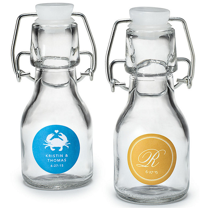 Personalized Mini Glass Favor Bottle