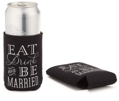 Eat, Drink, Be Married Koozie