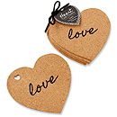 Cork Heart Coaster