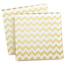 Gold Chevron Coaster Favor Set