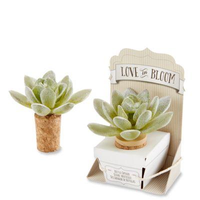 Love in Bloom Faux Succulent Bottle Stopper