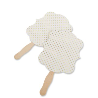 Dotted Gold Foil Hand Fans