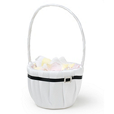The Knot Rhinestone Flower Girl Basket - Black