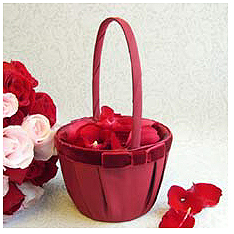 Serenade Bow Flower Girl Basket