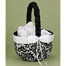 Enchanted Evening Flower Girl Basket - Black