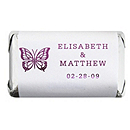 Personalized Metallic HERSHEY'S MINIATURES® Chocolates - Butterfly