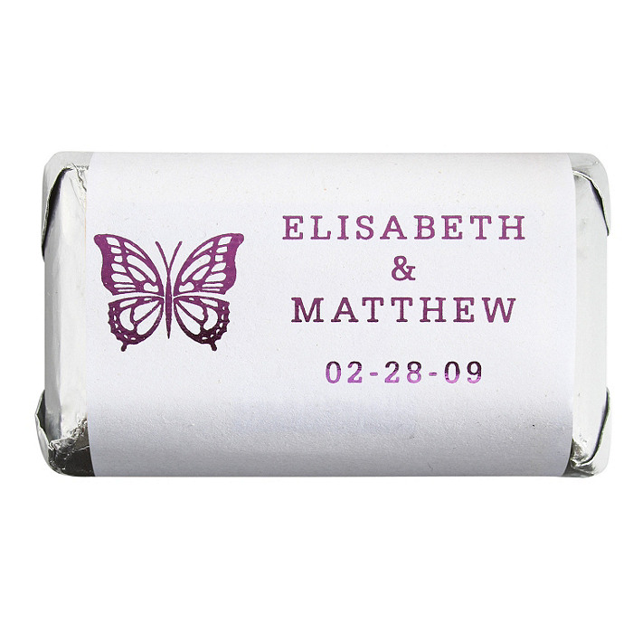 Personalized HERSHEY'S MINIATURES® Chocolates - Butterfly