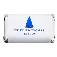 Personalized Metallic HERSHEY'S MINIATURES® Chocolates - Sailboat