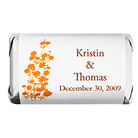 Personalized HERSHEY'S MINIATURES® Chocolates - Foliage (Orange)