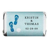 Personalized HERSHEY'S MINIATURES® Chocolates - Flip-Flops (Blue)
