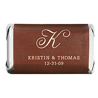 Personalized HERSHEY'S MINIATURES® Chocolates - Initial (White/Brown)