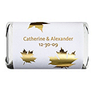 Personalized Metallic HERSHEY'S MINIATURES® Chocolates - Fall Leaves