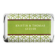 Personalized HERSHEY'S MINIATURES® Chocolates - Modern (Green)